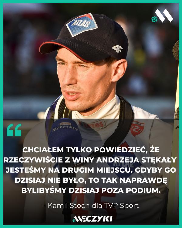 Piękne słowa Kamila Stocha!