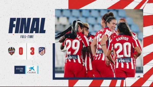 Kobieca sekcja Atletico Madryt wygrała Superpuchar Hiszpani w finale pokonując Levante