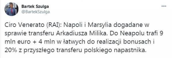 Napoli i Marsylia dogadane w sprawie transferu Milika