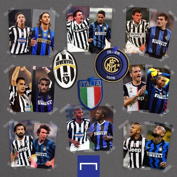 Wielu znanych piłkarzy grało zarówno w Juventusie jak i w Interze