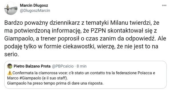 PZPN skontaktował się z Marco Giampaolo w sprawie posady selekcjonera reprezentacji Polski