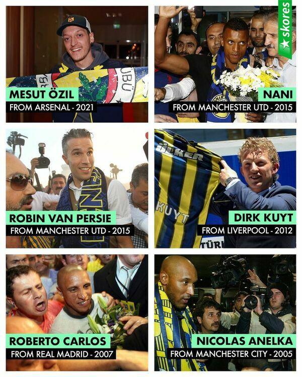 Wielkie nazwiska grały w Fenerbahce w XXI wieku