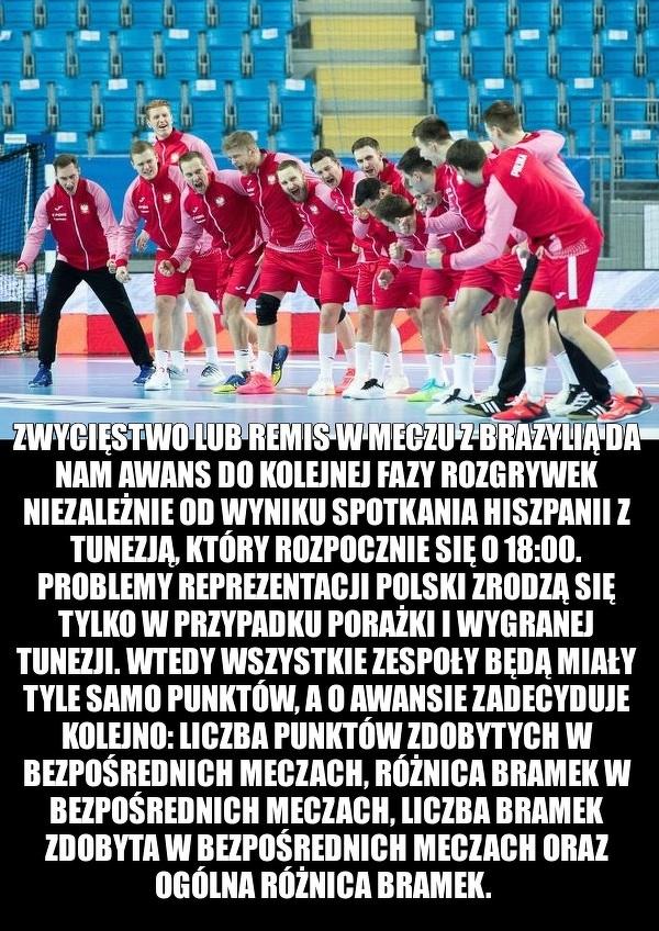 Już dzisiaj reprezentacja Polski w piłce ręcznej rozegra mecz z Brazylią!