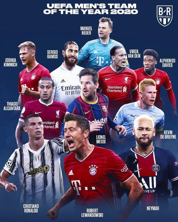 Ujawniono Drużynę Roku UEFA wybraną przez kibiców