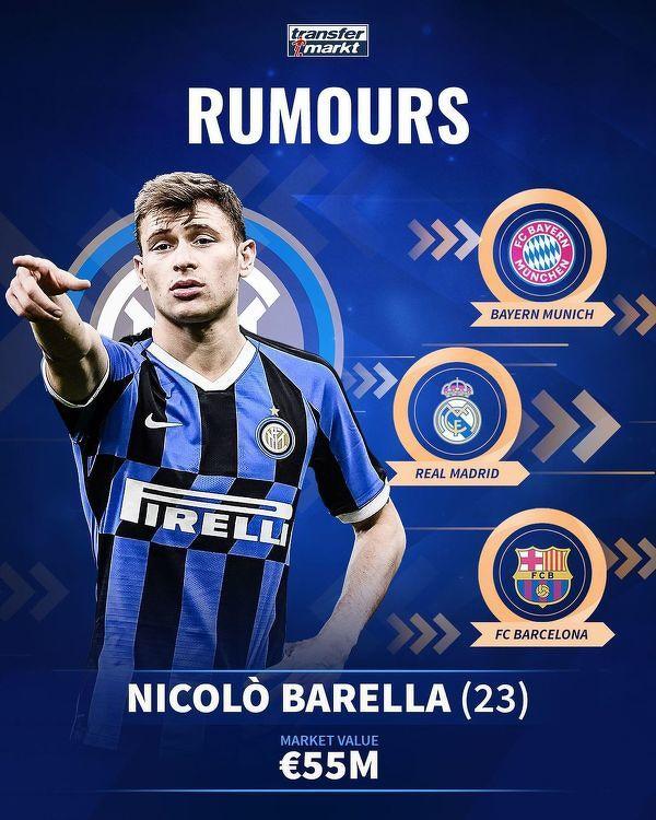 Nicolò Barella na celowniku wielkich klubów