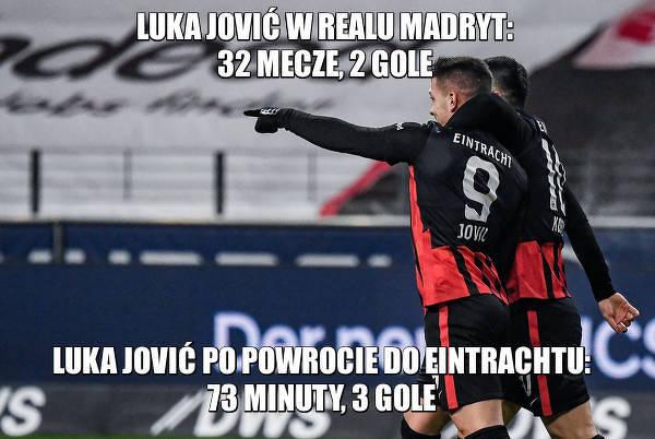 Luka Jović z kolejnym golem