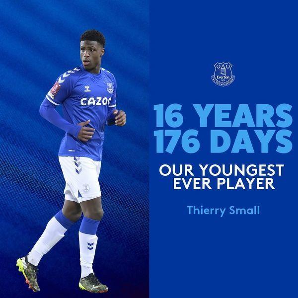 Thierry Small najmłodszym debiutantem w 143-letniej historii Evertonu