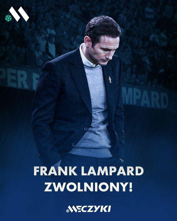 Już oficjalnie. Frank Lampard przestaje pełnić funkcję menedżera Chelsea