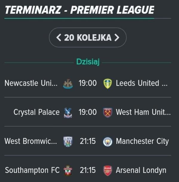 W każdym z czterech rozgrywanych dzisiaj meczów Premier League możemy zobaczyć Polaka