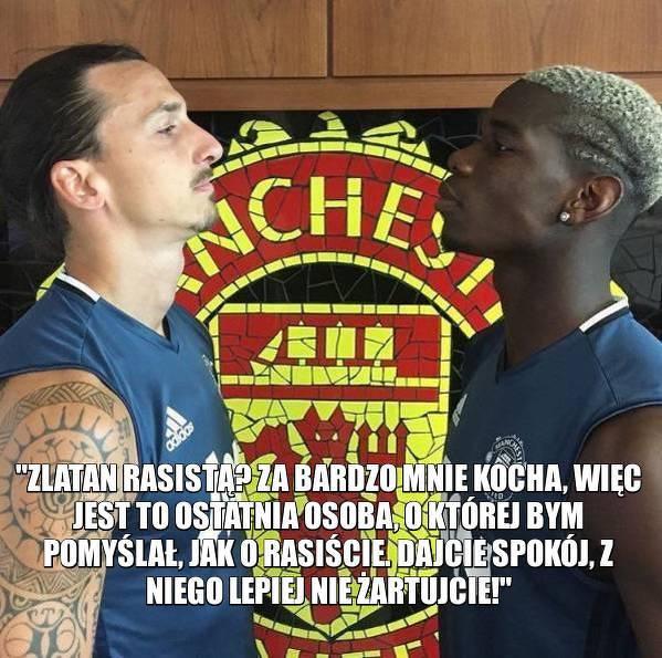 Pogba zakpił z zarzutów w stronę Zlatana
