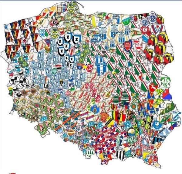 Piłkarska mapa Polski