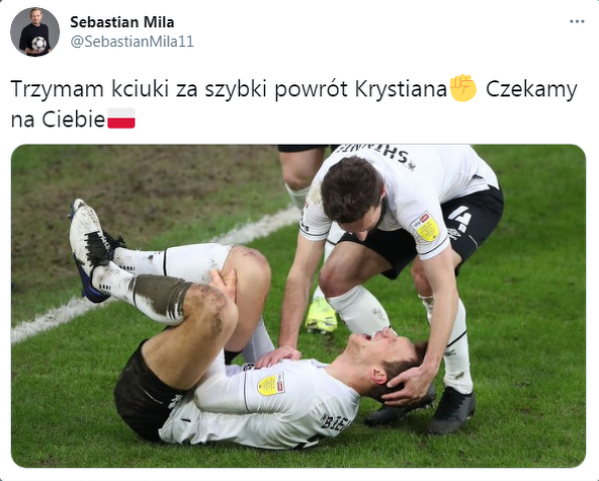 Sebastian Mila wspiera Krystiana Bielika