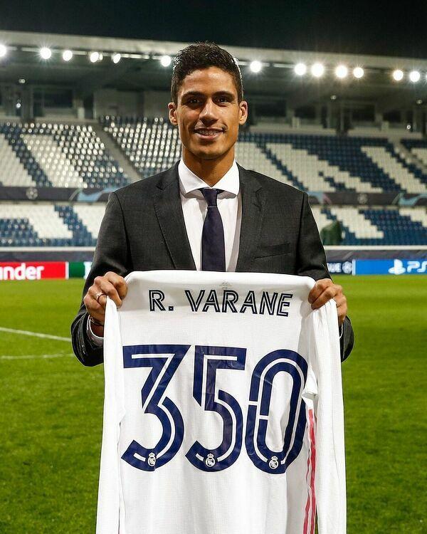 Varane rozegrał wczoraj 350 spotkanie w barwach Realu