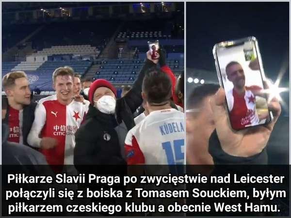 Piłkarze Slavii Praga nie zapomnieli o Soucku