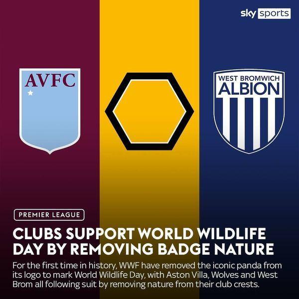 Z okazji Światowego Dnia Dzikiej Przyrody kluby Premier League usunęły na jeden dzień zwierzęta ze swoich herbów