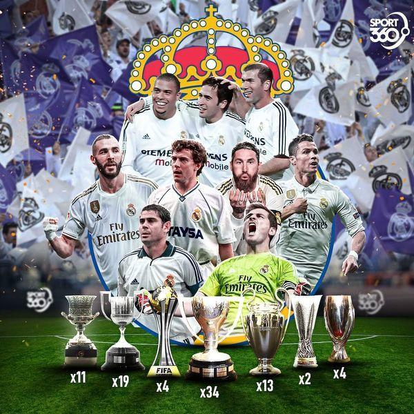Bogata kolekcja trofeów Realu Madryt