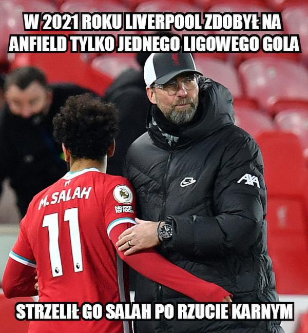 Koszmarna skuteczność Liverpoolu na Anfield