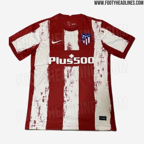 Domowa koszulka Atletico na sezon 21/22 wg. Footyheadlines.com