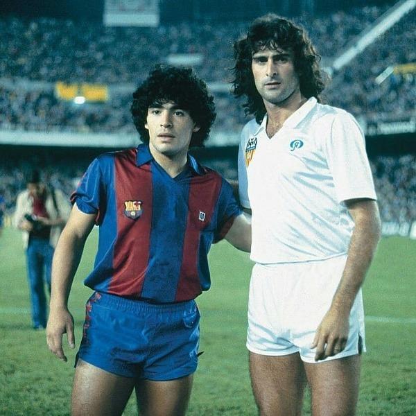 Diego Maradona i Mario Kempes - piłkarze którym Argentyna zawdzięcza 2 tytuły Mistrza Świata