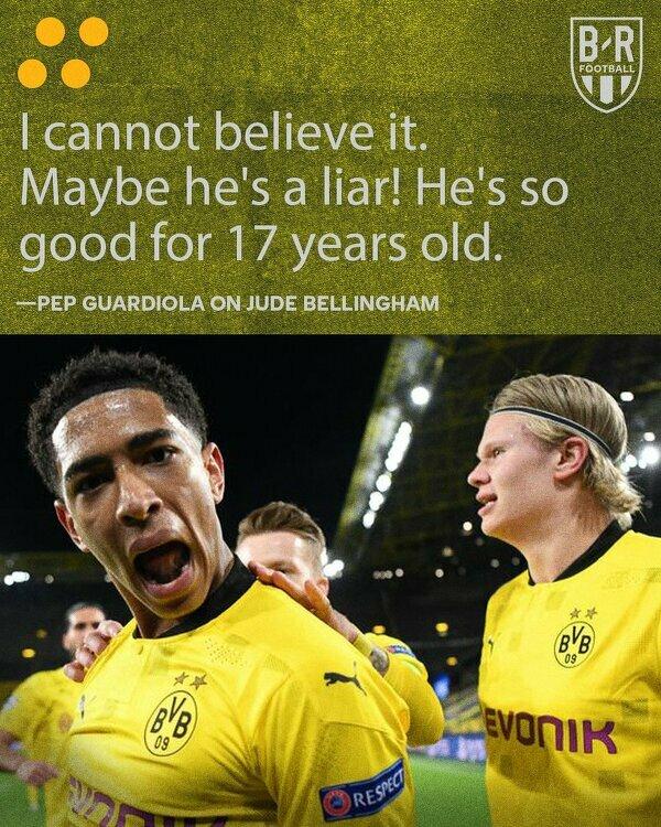 Pep Guardiola pod wrażeniem Bellinghama