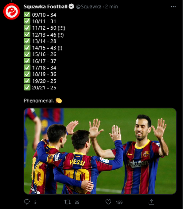 Messi jest klasą dla samego siebie
