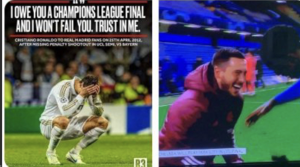 Cristiano po porażce 1/2 LM 2012 vs Hazard 2021