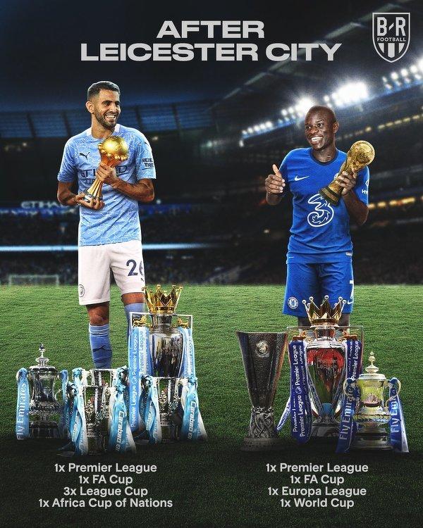 Mahrez i Kante po odejściu z Leicester