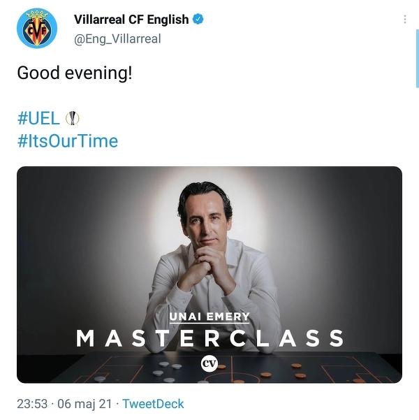 Villarreal na Twitterze po awansie do finału LE