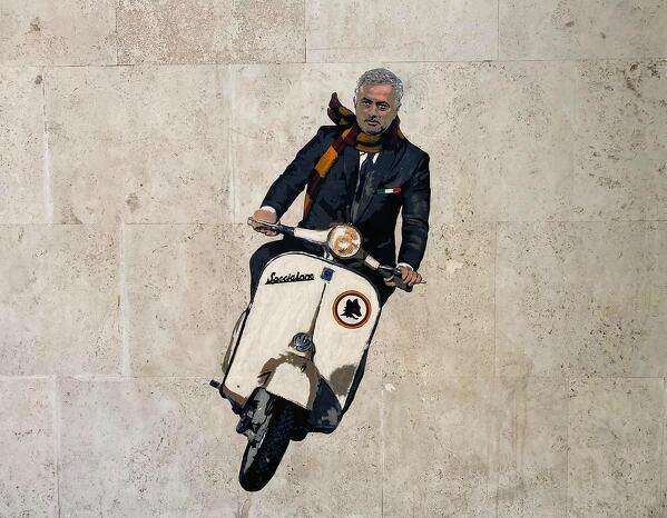 Jose Mourinho ma już swój mural w Rzymie