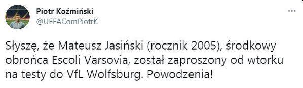 Wolfsburg przetestuje polskiego obrońcę