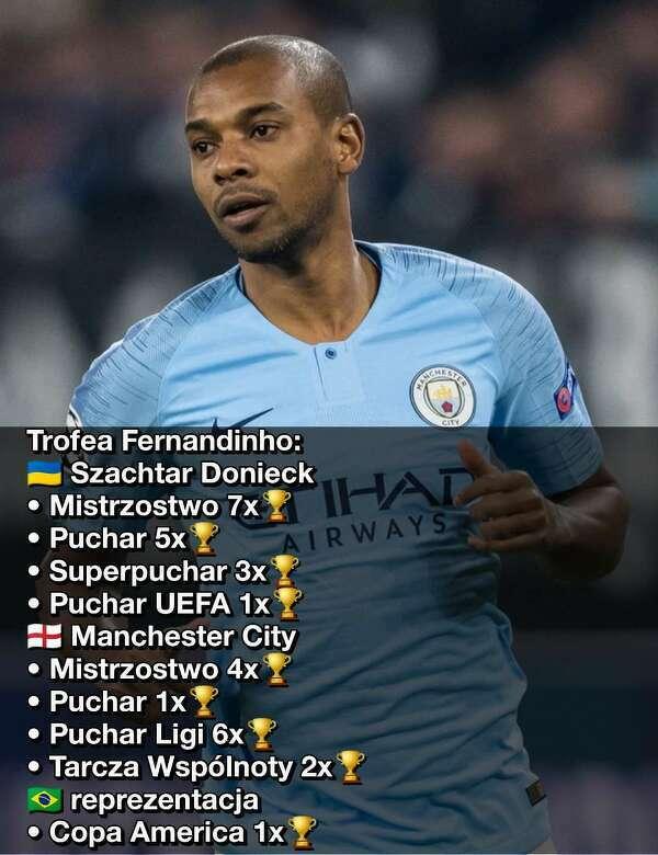 30 trofeów Fernandinho w seniorskiej karierze