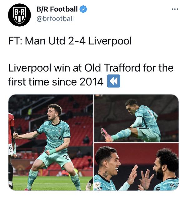 Liverpool wygrał z Manchesterem United na Old Trafford po raz pierwszy od 2014 roku