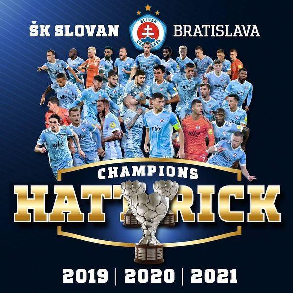 Slovan Bratysława po raz 15 w historii z mistrzostwem Słowacji