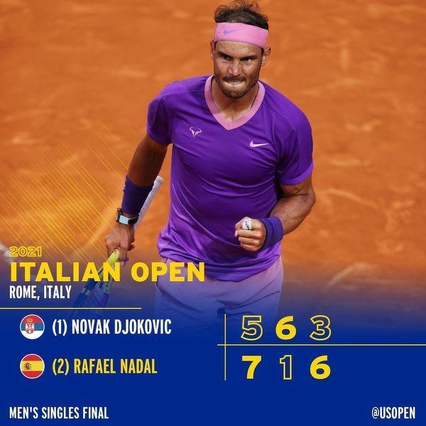 Rafael Nadal po raz 10 w karierze wygrywa turniej ATP Masters w Rzymie