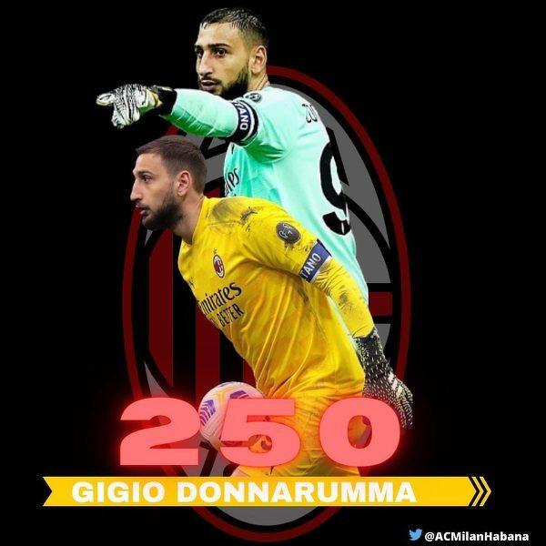 Gianluigi Donnarumma rozegra dzisiaj 250. mecz w barwach Milanu