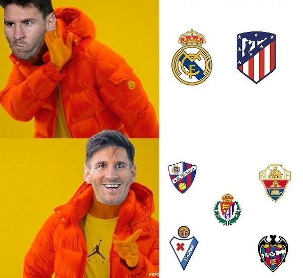 Leo Messi w tym sezonie woli strzelać słabszym ekipom