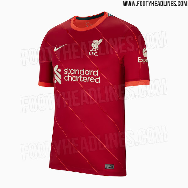 Domowy zestaw Liverpoolu na sezon 2021/22