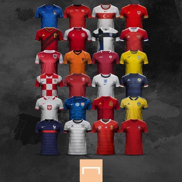 Koszulki wszystkich reprezentacji na EURO