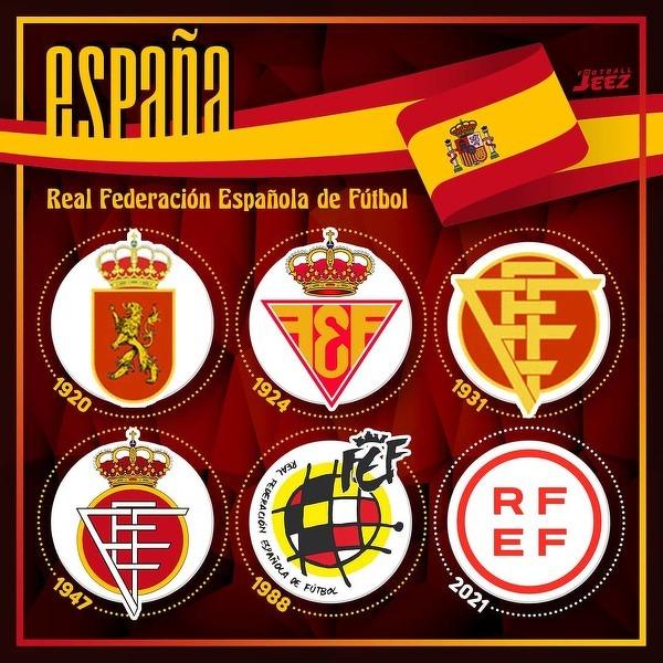 Tak zmieniało się logo hiszpańskiej federacji piłkarskiej