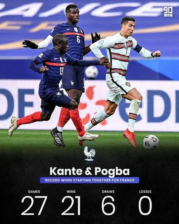 Gdy razem zaczynali mecz Francja dotąd nie przegrała