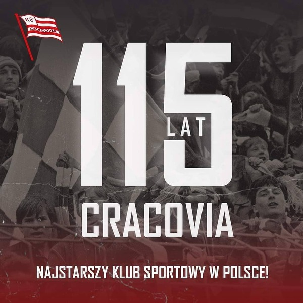 Cracovia obchodzi dzisiaj 115-lecie istnienia