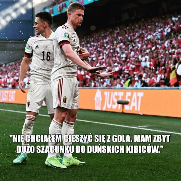 De Bruyne wyjaśnił, dlaczego nie cieszył się z gola w meczu z Danią