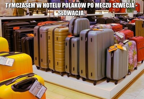 Tymczasem w hotelu Polaków po meczu Szwecja - Słowacja