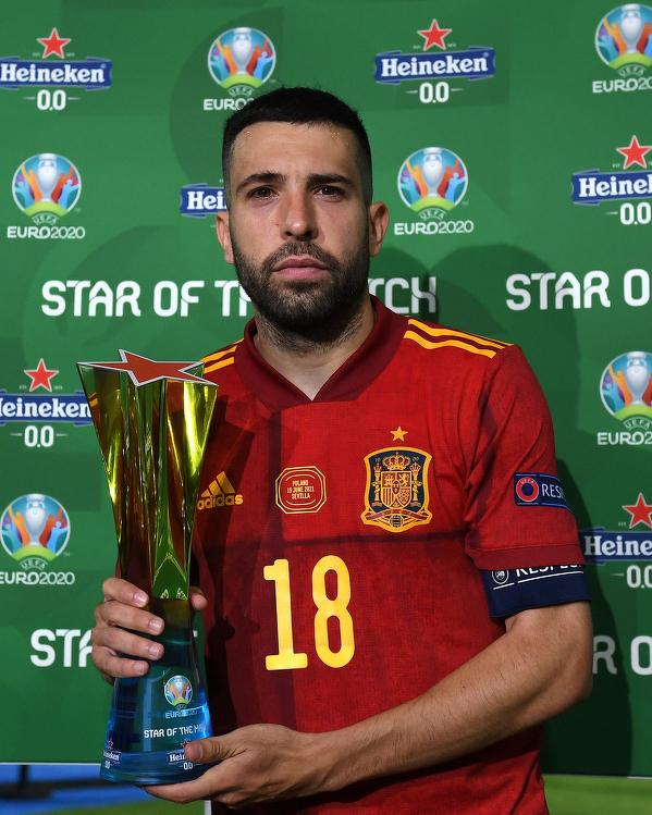 Jordi Alba wybrany piłkarzem meczu Hiszpania - Polska