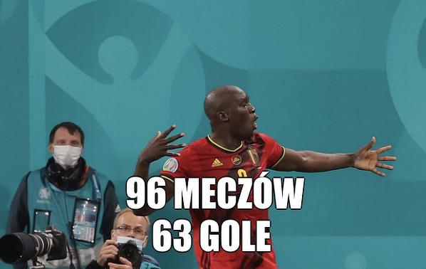 Niesamowity bilans Lukaku e reprezentacji Belgii