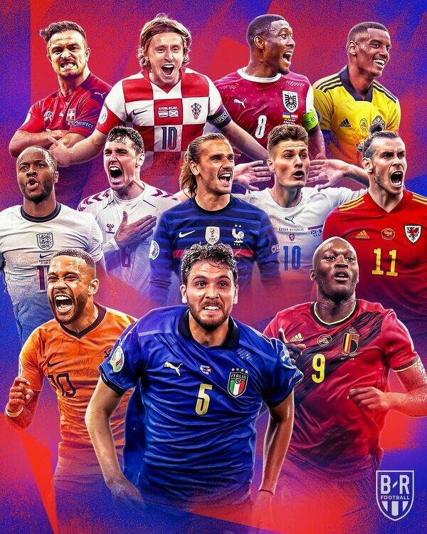 Drużyny, które dotychczas awansowały do 1/8 finału EURO 2020