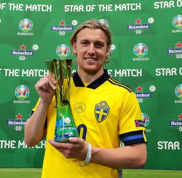 Emil Forsberg piłkarzem meczu Szwecja - Polska