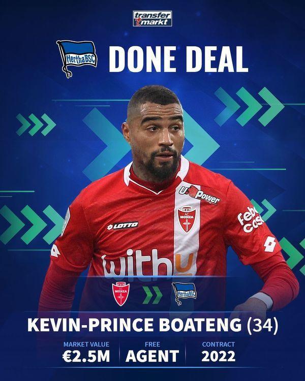 Kevin Prince Boateng nowym zawodnikiem Herthy