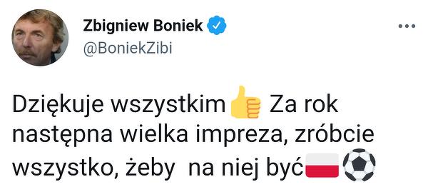 Zbigniew Boniek po meczu ze Szwecją