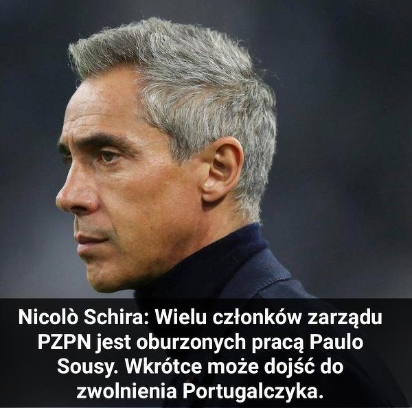 Nicolo Schira: Sousa może zostać zwolniony